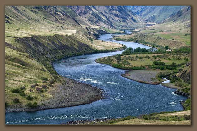 Snake River and Bonneville Flood gravel in Hells Canyon, Idaho.